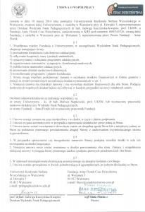 Umowa o współpracy z UKSW