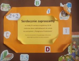 Plakat Pożegnanie przedszkola
