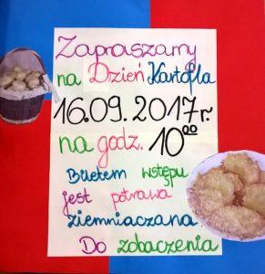 Plakat na Dzień Kartofla