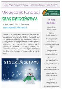 Okładka miesięcznika Fundacji CZAS DZIECIŃSTWA